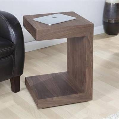Jual Furnishings Curve Walnut Utility Table