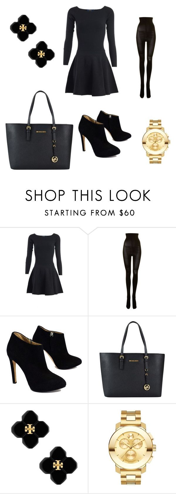 """Untitled #18"" by mariachun on Polyvore featuring Ralph Lauren, SPANX, Giuseppe Zanotti, MICHAEL Michael Kors, Tory Burch and Movado"