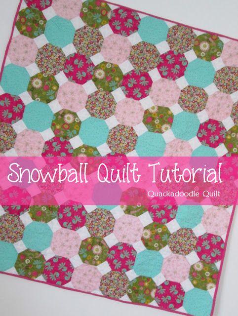 Quackadoodle Quilt: Snowball Quilt Tutorial