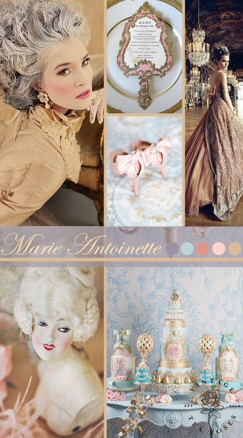 Marie Antoinette Wedding Inspiration Board http://vintagetearoses.com/marie-antoinette-wedding-inspiration/ #wedding #queen