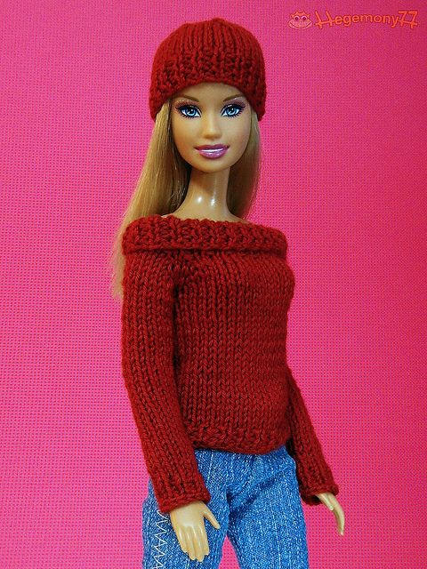 Barbie Doll Pictures Knitted Sweaters