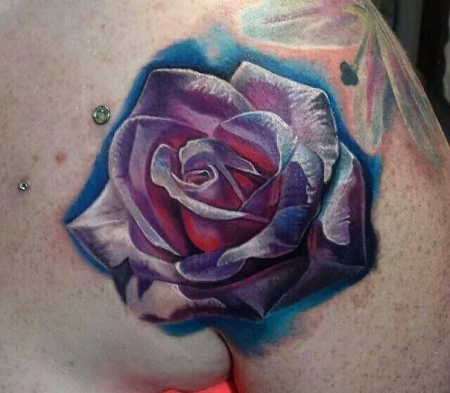 Pink and purple rose tattoo | Tattoos & Inspirations ...