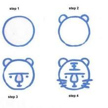 How to draw a tigre