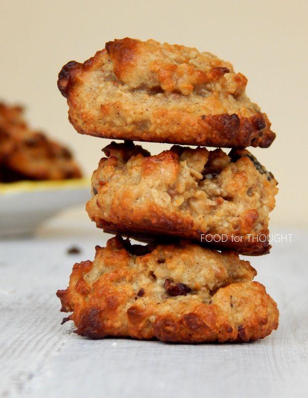 Food for thought: Μαλακά μπισκότα με βρώμη, φουντούκια, ταχίνι και κράνμπερις (Χωρίς Ζάχαρη)