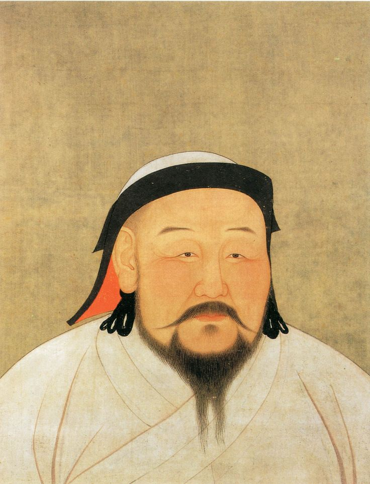 Kublai Khan ( 1215 – 1294) was the grandson of Genghis Khan and became the fifth Great Khan ruling  the Mongol Empire from 1260 until his death. He is also the founder and first emperor of the Yuan  Dynasty (1271 – 1368) that reunited China for the first time since the Tang Dynasty. The first ever Non-  Chinese emperor to rule China, he reigned from Beijing over the world's greatest empire reaching from  the Pacific to the Black Sea.