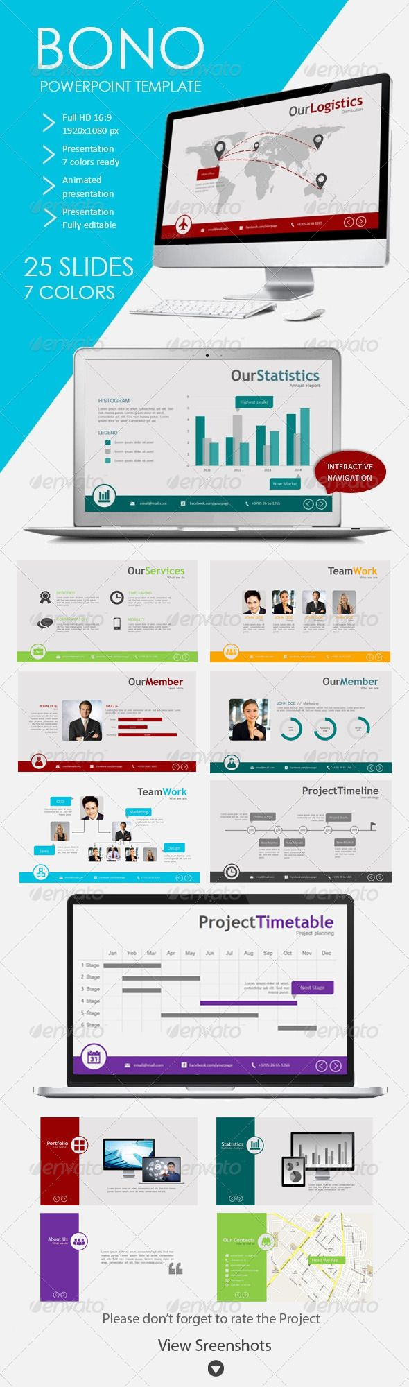 Bono Powerpoint Template for Business - Presentation Templates