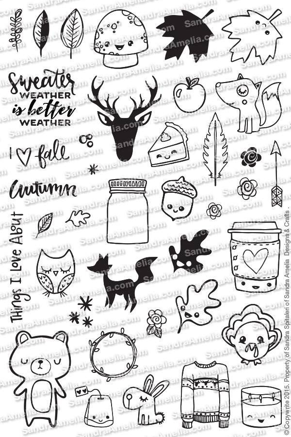 Fall Planner Doodles – Stamp Set – The Sassy Club
