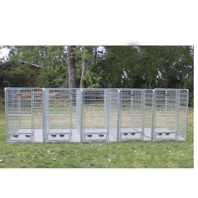 K9 Kennel 5 Dog Galvanized Steel Yard Kennel http://www.barklandtips.com/product-category/leashes/ #doghousekennel