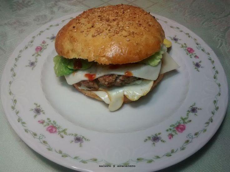 hamburguesa de cerdo casera