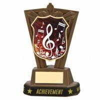 COPPE ROMA | Trofeo nota musicale in ABS oro antico h14cm + braccialetto