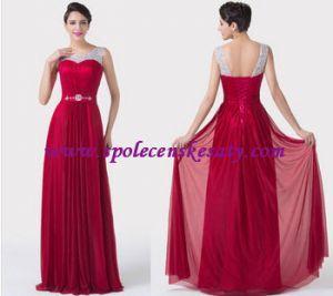 Červené stříbrné dlouhé společenské šaty na širší ramínka M L XL 42 44 L149