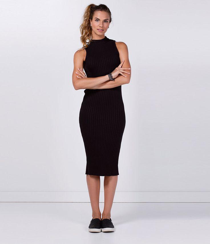 Vestido feminino    Modelo tubinho    Sem manga    Gola redonda    Marca: Blue Steel    Tecido: rib    Modelo veste tamanho: P             COLEÇÃO INVERNO 2016             Veja outras opções de    vestidos femininos.
