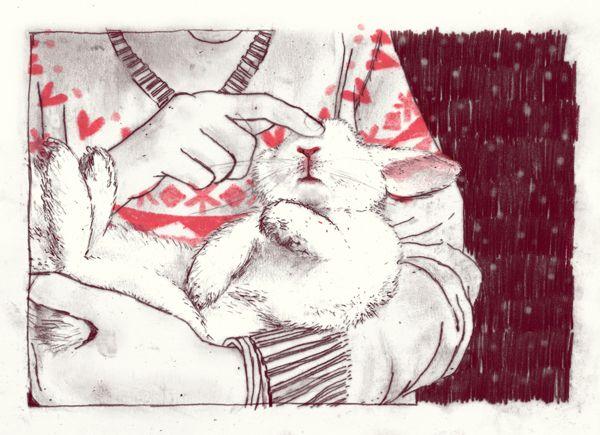 Anne van den Berg Illustraties ➳ Christmas card by Anne van den Berg, via Behance