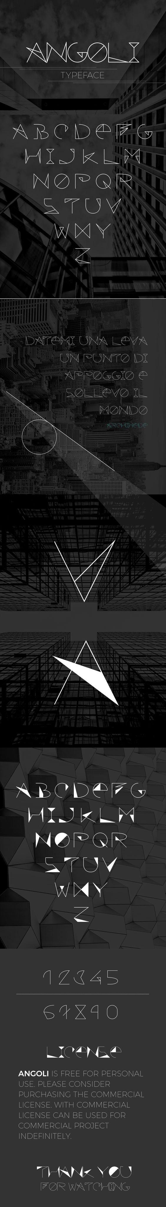 ANGOLI - Free typeface par Matteo Colombo - 10