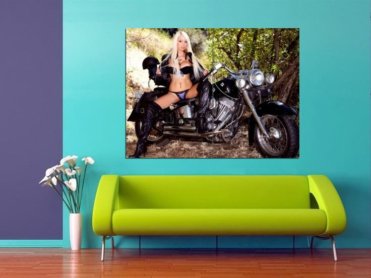Motorcycle | XH0936 Rikki Six HUGE POSTER ...