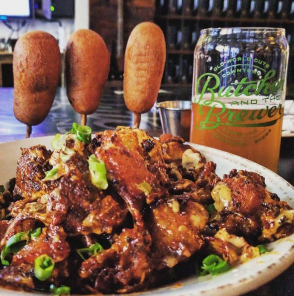 """<h3><a href=""""http://www.butcherandthebrewer.com/""""> House-Smoked Corn Dogs at Butcher and the Brewer</a></h3> <i>2043 E. 4th St., 216-331-0805</i> <br>So they're not the only corn dogs on this list, but they are original with all their smokey goodness, and this new market-brewery-restaurant hybrid on East Fourth has a perfect patio for enjoying the quintessential summery snack.<br> <br>Photo via adambadone/Instagram"""