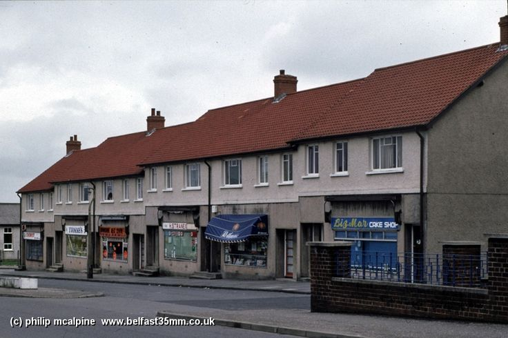 Downshire shops, top of the Cregagh Road.