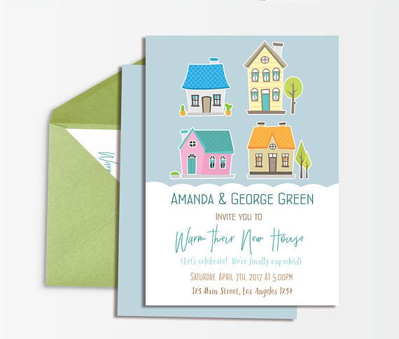 Housewarming Invitation Printable, Housewarming Party Invite, We Moved Party Invitation,  New Home Open House Invitation, Our First Home