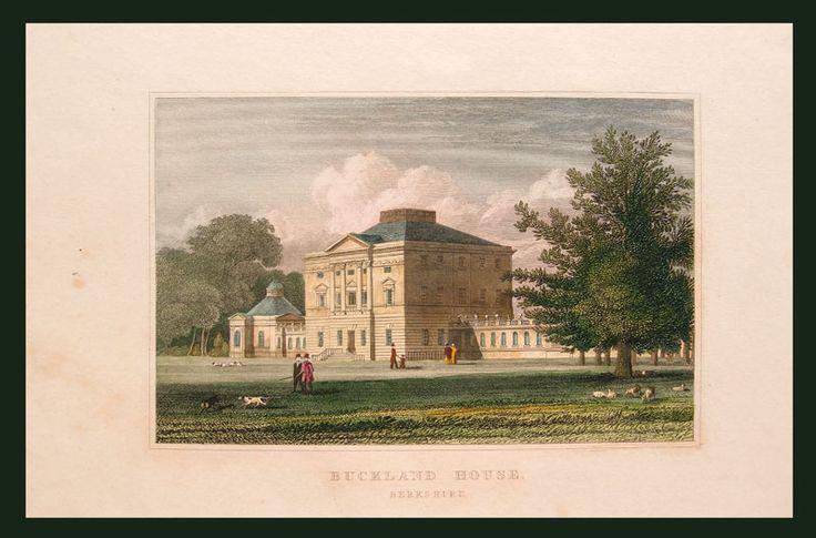 Stampe antiche residenze inglesi