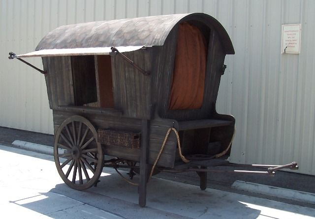 Sweet, rustic, tiny little gypsy wagon!
