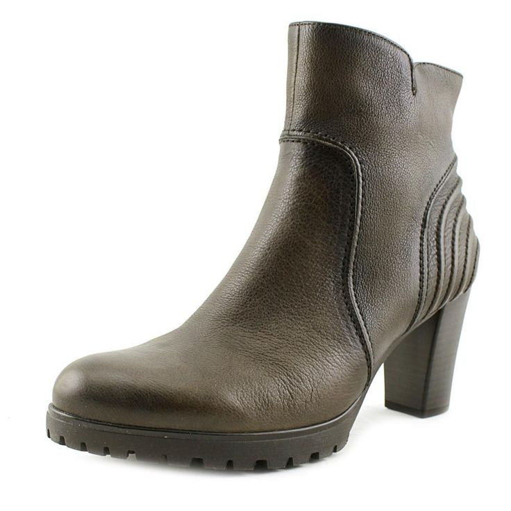 Gabor 35.770 Round Toe Leather Ankle Boot