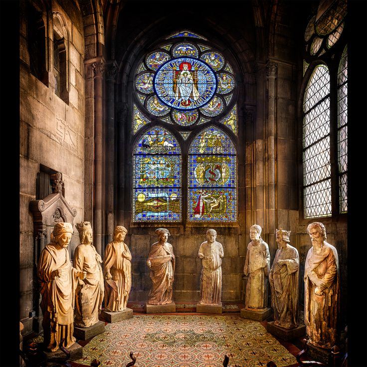 Interesting Gothic Architecture, Stitched Panorama, France