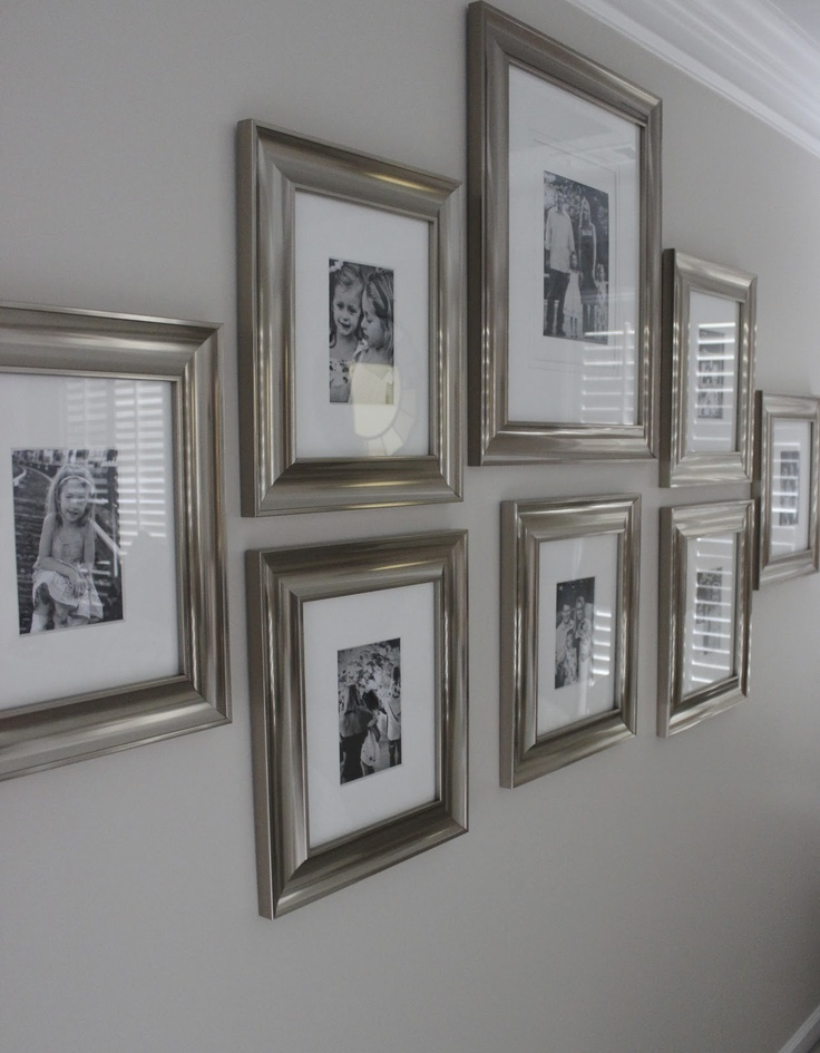 Photo Wall Ideas With Different Frames : Best picture frame layout ideas on gallery