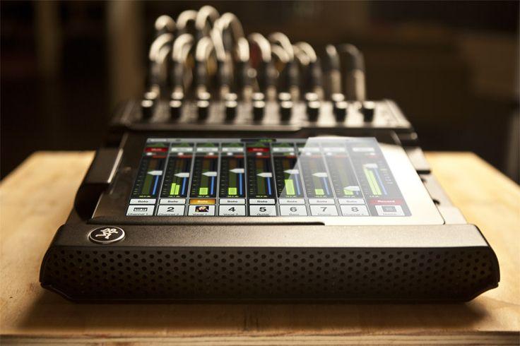 Mackie DL1608 Live Sound Mixer with wireless iPad control.