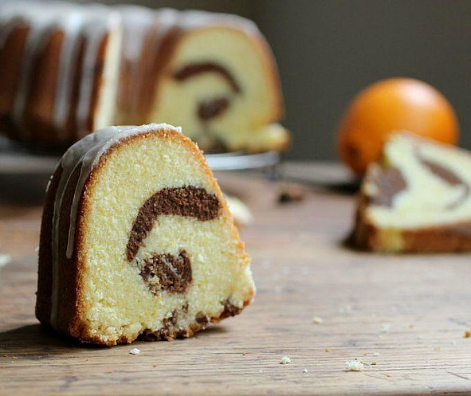 Torta marmolada de naranja y chocolate