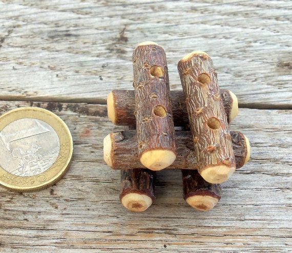 Tree Branch Toggle Buttons6 handmade Pine  by forestinspiration, $7.00