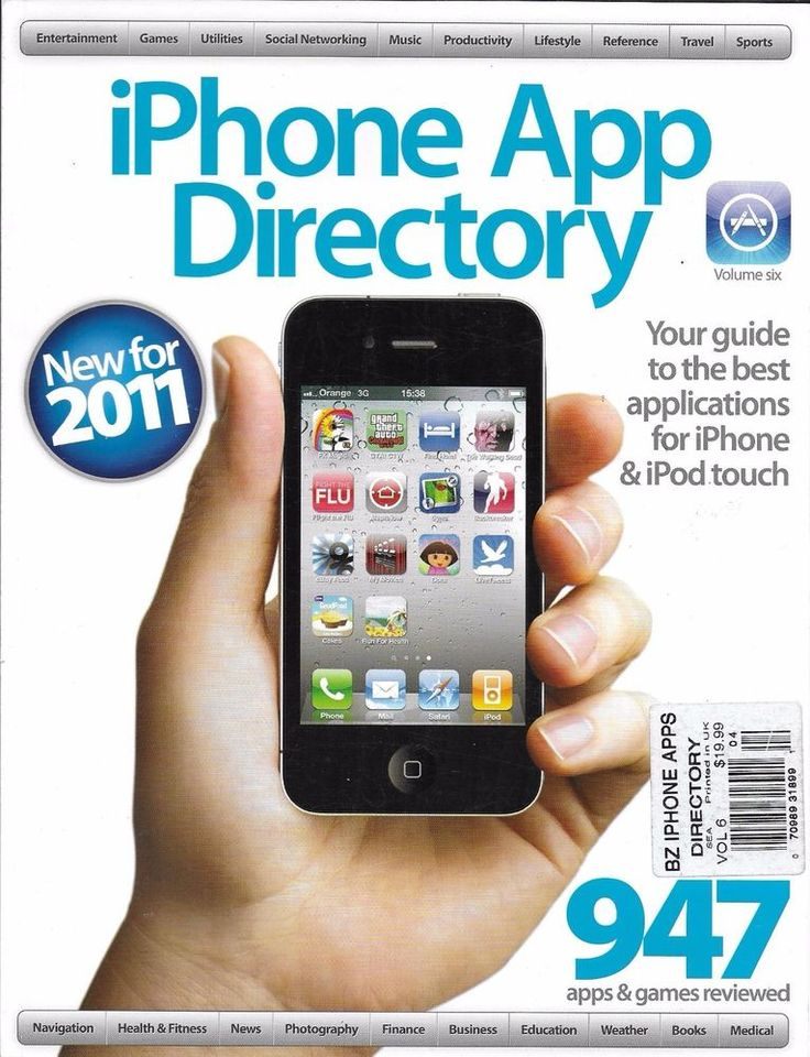 Apple iPhone App Directory magazine Music News Health Medical Business Photos