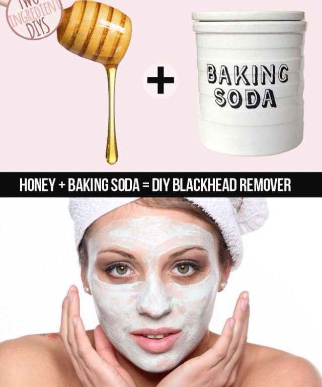 -2 Tablespoons baking soda  -1 Tablespoon honey (organic of possible)