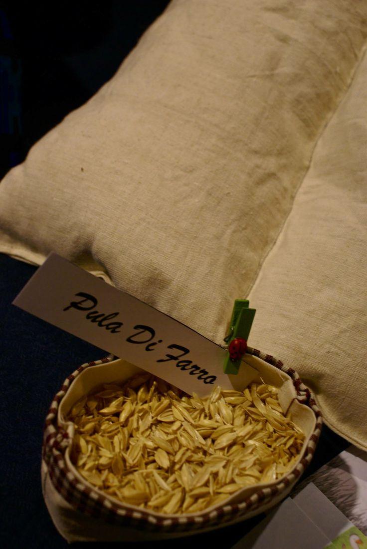 Cuscini in pula di farro biologica