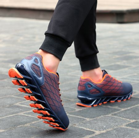 Men Brand Shoes Casual Shoes Mens Trainers Breathable Shoes Leisure Zapatillas Deportivas Hombre Hip Hop Street Shoes Orange Red