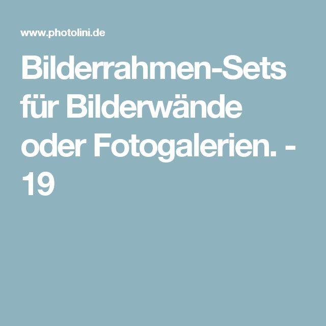 Bilderrahmen-Sets für Bilderwände oder Fotogalerien. - 19