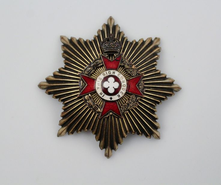 Vintage Brass Enamel Military Badge - Royal Army Chaplain Badge In This Sign Conquer - Maltese Cross by Suite22 on Etsy