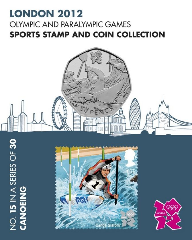 Sports & coin collection - Canoeing