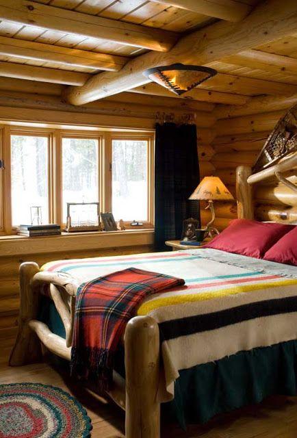 Best 25+ Log home bedroom ideas on Pinterest   Cabin floor plans ...