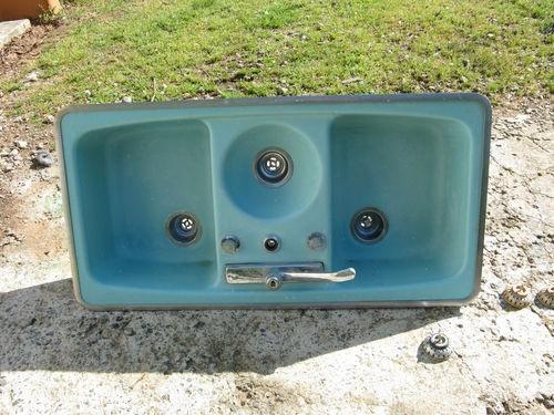 Marvelous Antique Vintage Cast Iron Farmhouse Farm Sink Aqua Seafoam Turquoise Farm  Sink