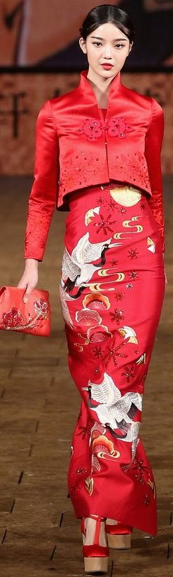 Exotic Fashion for women- Zhang Zhifeng 2015 China Fashion Week S/S 2015