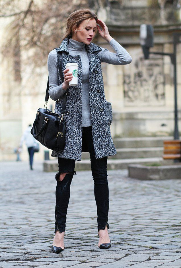 @roressclothes closet ideas #women fashion outfit #clothing style apparel Fashionable Fall Outfit with Turtleneck