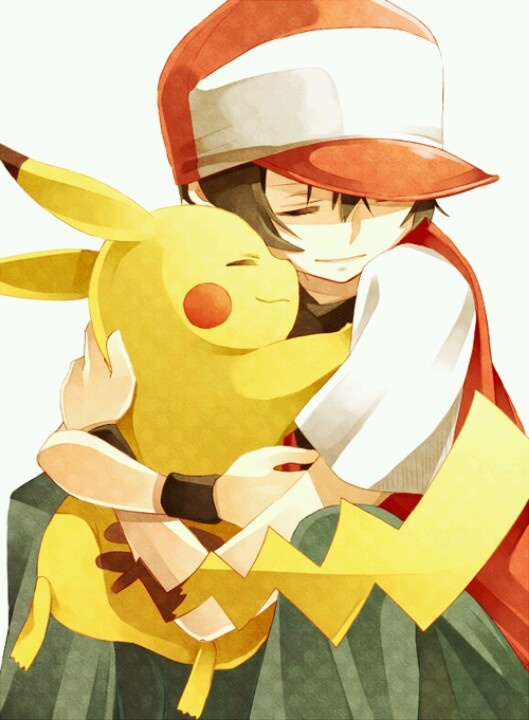 Red and pikachu. How could we forget Red, the first pokémon trainer that we ever saw?