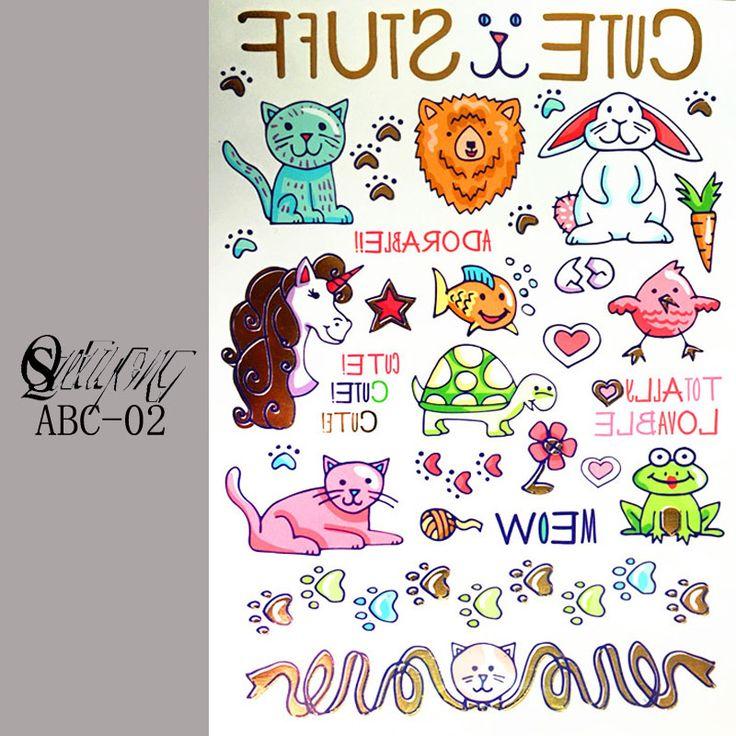 Princess Cinderella Girl Story Children Waterproof Temporary Tattoo Stickers  Kids Toys fairy tales Tattoos Body Arm