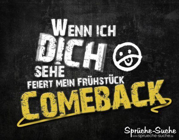 Comeback Frühstück - Fieser Spruch