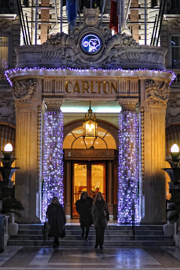 Carlton Hotel, Cannes ~ (My beautiful city~The Carlton was built in 1911, it is definitely the most prestigious place to stay in Cannes. It is  listed by the Government of France as a National Historic Building.)