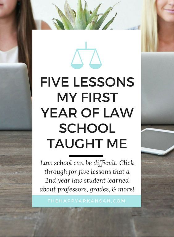 Five Lessons My First Year Of Law School Taught Me | Click through to learn…