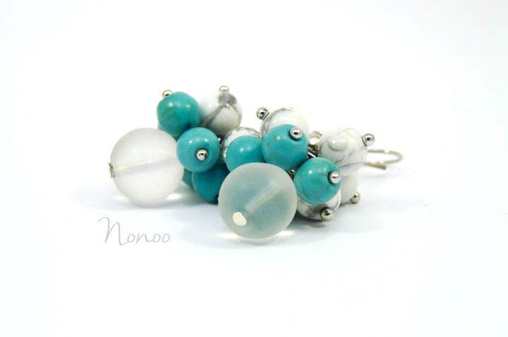 Cold mood :) Gemstone earrings #niaékszer