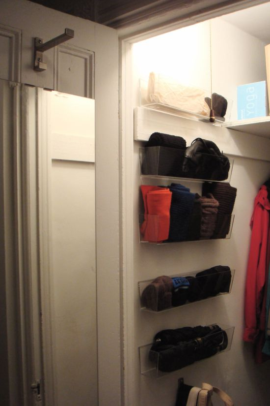 How to maximize deep, narrow closet space.