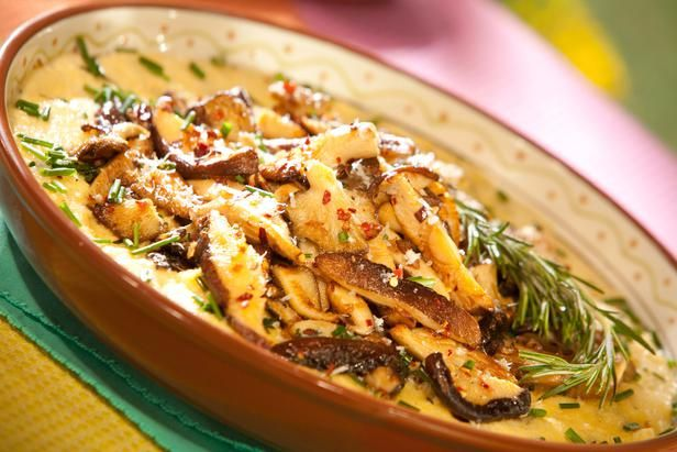 Sauteed Wild Mushrooms over Creamy Cheesy Polenta | Recipe