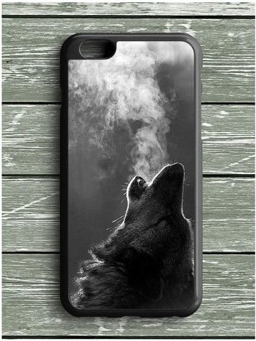 Black Wolf Howling iPhone 6S Plus Case